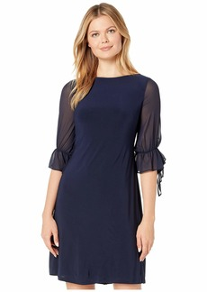 Ralph Lauren Mid Weight Matte Jersey Carter 3/4 Sleeve Day Dress