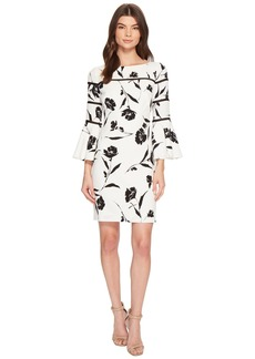 Ralph Lauren Mina Lovers Floral Stretch Crepe Dress
