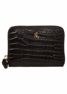 Ralph Lauren Mini Croc Embossed Small Zip Wallet