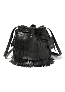 Ralph Lauren Mini Fringe Leather Bucket Bag