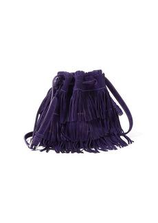 Ralph Lauren Fringe Suede Mini Bucket Bag