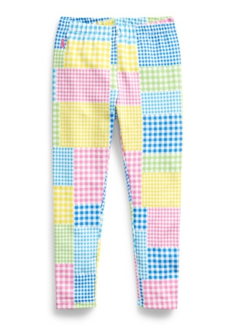 Ralph Lauren Mixed-Gingham Jersey Legging