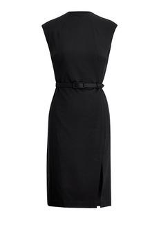 Mockneck Sheath Dress