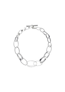 "Ralph Lauren Modern Metal 18"" Graduated Link Collar Necklace"
