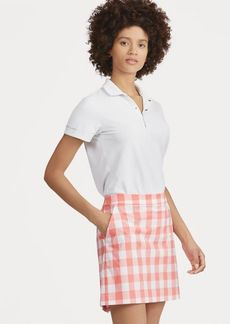 Ralph Lauren Moisture-Wicking Gingham Skort