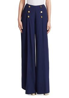 Ralph Lauren Montaine Front-Slit Pants