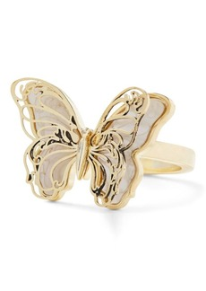 Ralph Lauren Mother-Of-Pearl Butterfly Ring