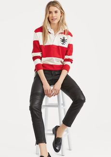 Ralph Lauren Moto Leather Skinny Pant