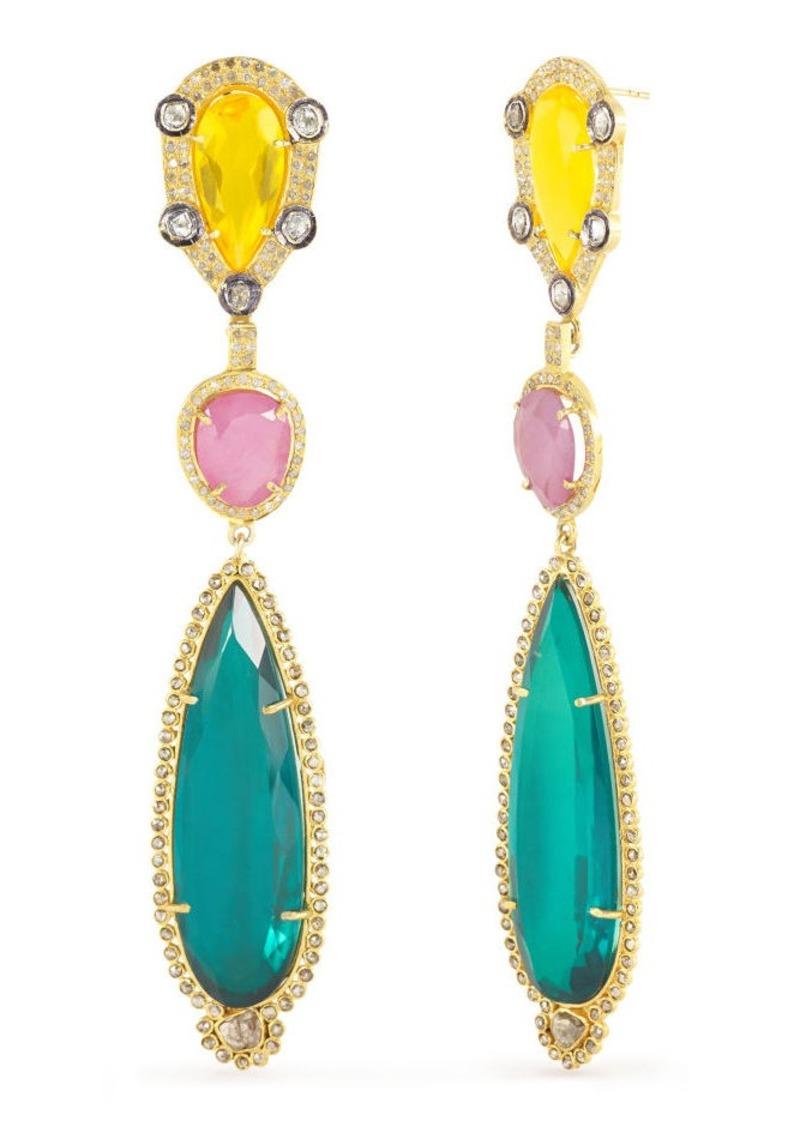 Ralph Lauren Multicolored Drop Earrings