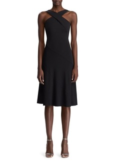 Ralph Lauren Myrian Crisscross Halter Dress