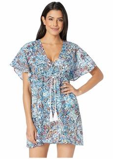 Ralph Lauren Mystic Paisley Flutter Sleeve Dress
