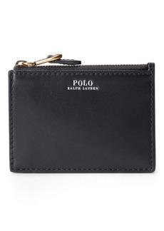 Ralph Lauren Nappa Leather Zip Card Case