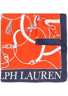 Ralph Lauren nautical-themed silk scarf