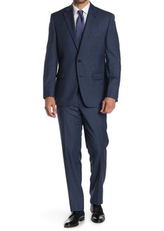 Ralph Lauren Navy Blue Sharkskin 2-Piece Suit
