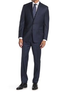 Ralph Lauren Navy Solid Two Button Wool Suit
