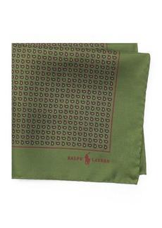 Ralph Lauren Neat Silk Twill Pocket Square