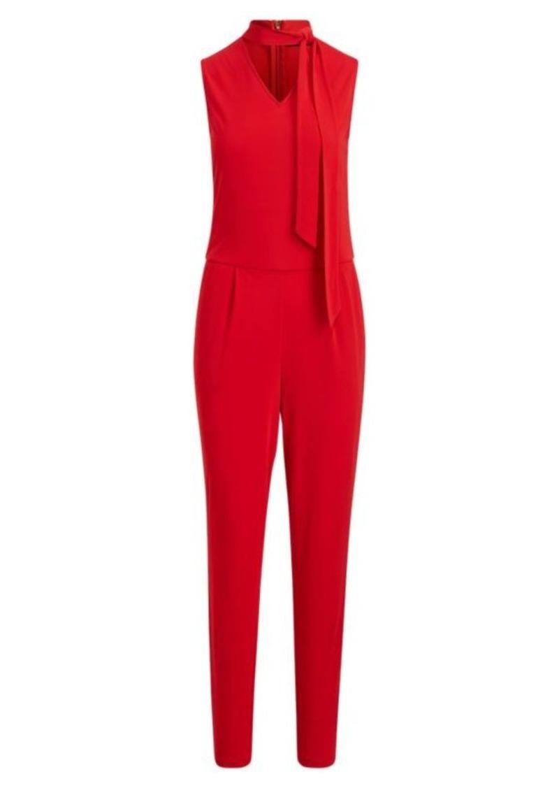 Ralph Lauren Necktie Jersey Jumpsuit
