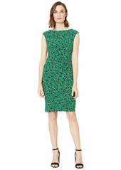 Ralph Lauren Novellina Bauwens Floral Cap Sleeve Day Dress