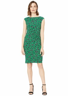 Ralph Lauren Novellina Bauwens Floral Cap Sleeve Day Dress
