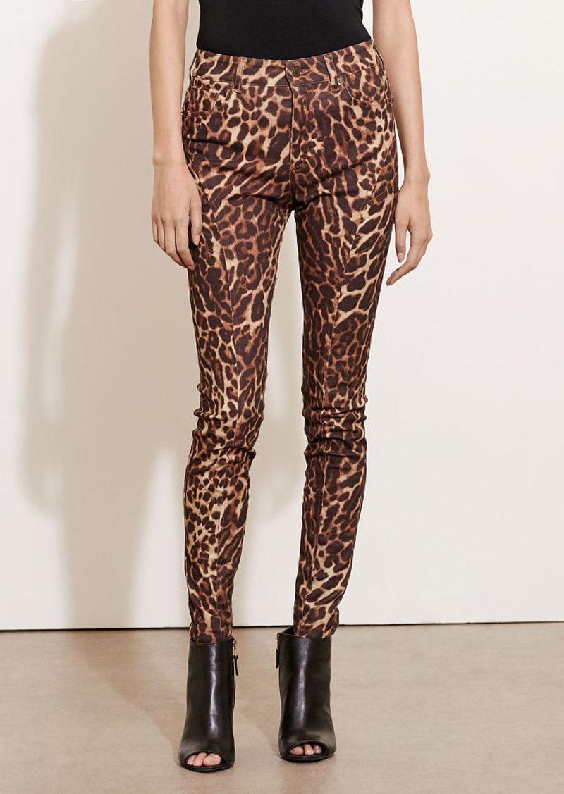 Ralph Lauren Ocelot-Print Skinny Jean