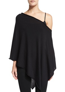 Ralph Lauren Off-The-Shoulder Asymmetric Poncho