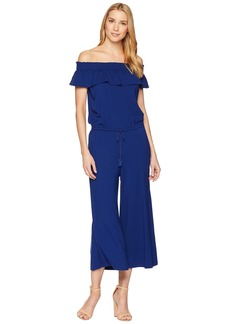 Ralph Lauren Off the Shoulder Wide-Leg Jumpsuit