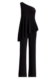 Ralph Lauren One-Shoulder Jersey Jumpsuit