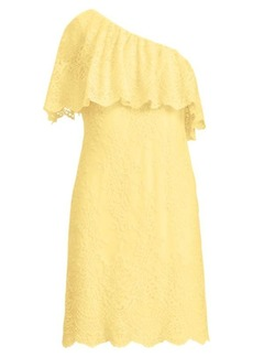 Ralph Lauren One-Shoulder Lace Dress