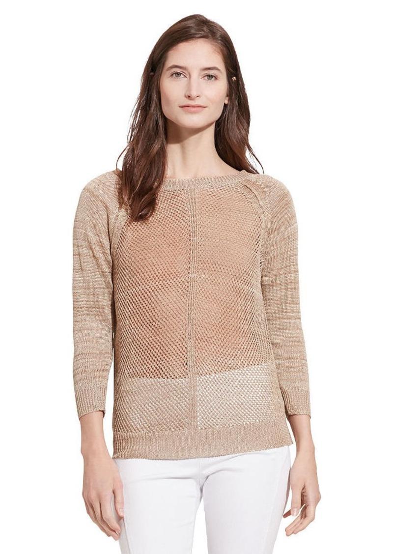 Ralph Lauren Open-Knit Linen-Blend Sweater
