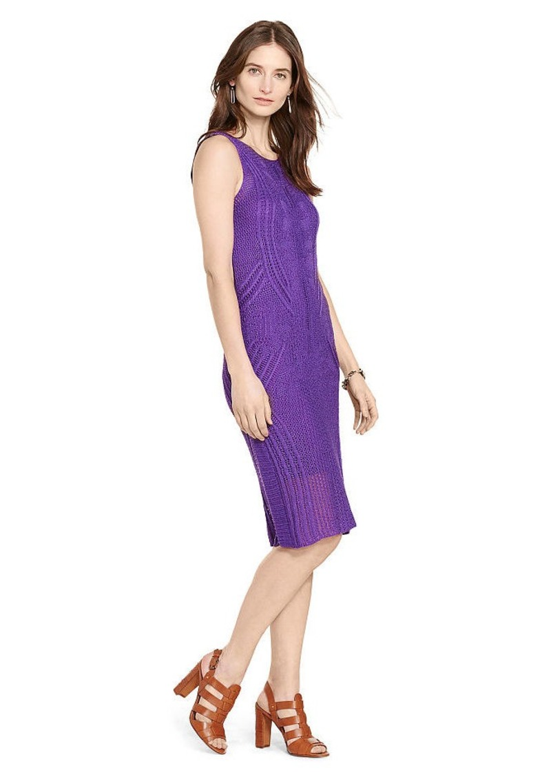 Ralph Lauren Open-Knit Sweater Dress