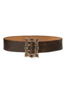Ralph Lauren Ornate-Buckle Leather Belt