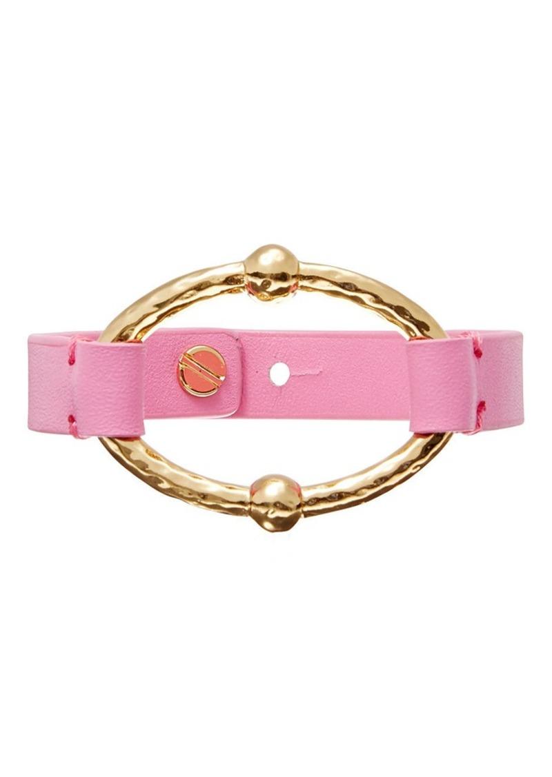 Ralph Lauren Oval Leather Bracelet
