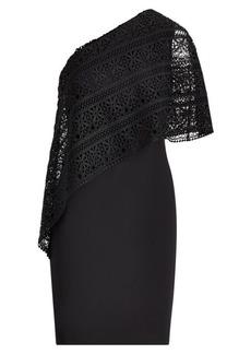 Ralph Lauren Overlay One-Shoulder Dress