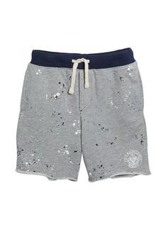 Ralph Lauren Paint Splatter Drawstring Sweat Shorts  Size 2-4