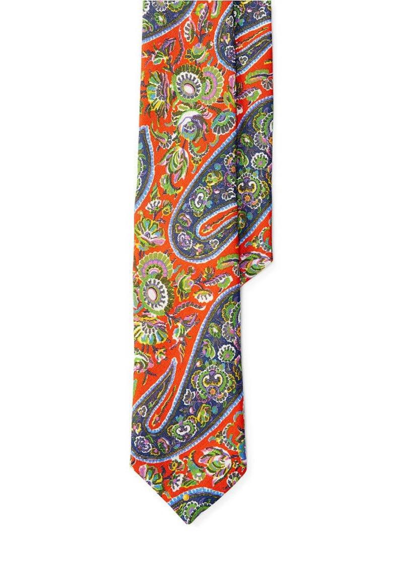 Ralph Lauren Paisley Linen Tie