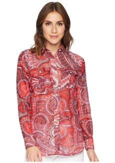 Ralph Lauren Paisley Silk-Blend Shirt