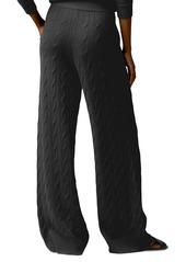 Ralph Lauren Palazzo Cable-Knit Cashmere Pants