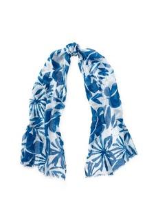 Ralph Lauren Palm-Leaf Cotton-Blend Scarf