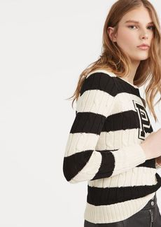 Ralph Lauren Patch Striped Cotton Sweater
