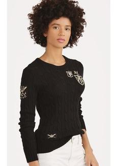 Ralph Lauren Patchwork Cable Cotton Sweater