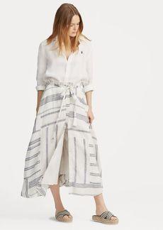 Ralph Lauren Patchwork Linen Skirt