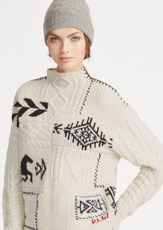 Ralph Lauren Patchwork Mockneck Sweater