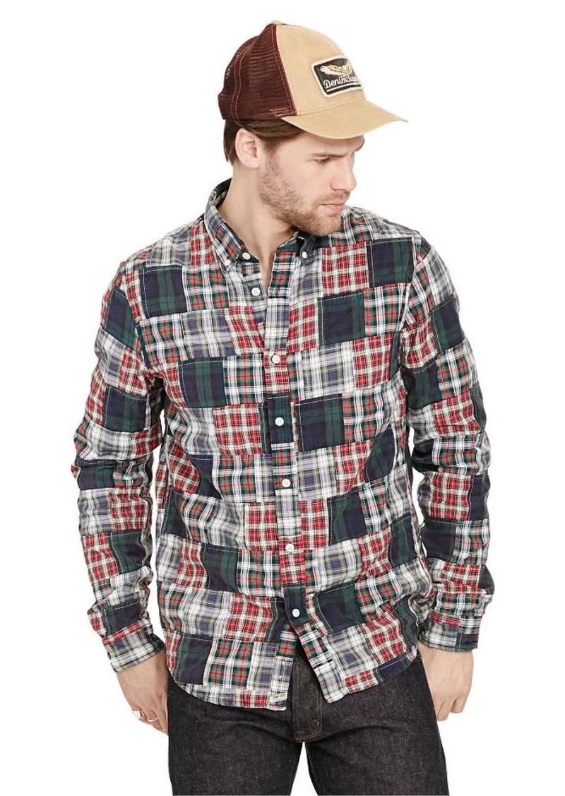 Ralph Lauren Patchwork Plaid Oxford Shirt