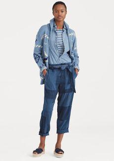 Ralph Lauren Patchwork Straight-Leg Pant