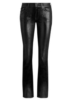 Ralph Lauren Patent Straight-Leg Jeans