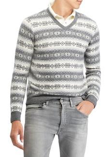 Ralph Lauren Pattern V-Neck Sweater