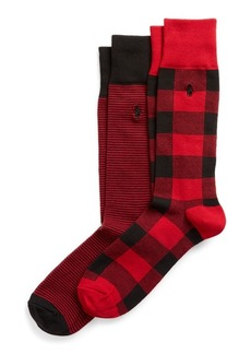 Ralph Lauren Patterned Dress Sock 2-Pack