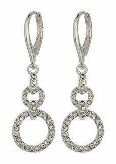 Ralph Lauren Pave Double Drop Earrings
