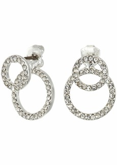 Ralph Lauren Pave Double Ring Stud Earrings