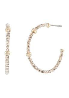 Ralph Lauren Pave Hoop Earrings